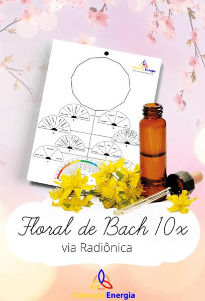 Capa Floral de Bach 10x Via Radiônica