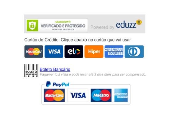 formas de pagamento - curso eduzz